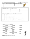Storytown Grade 5 Lesson 1 Spelling Test