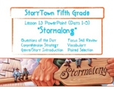 """Storytown Grade 5 Lesson 13 """"Stormalong"""" Weekly Powerpoint"""