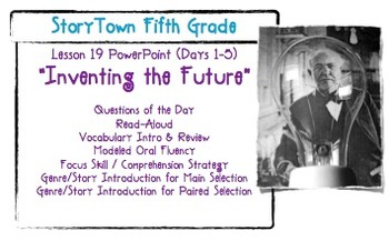 """Storytown Grade 5 Lesson 19 """"Inventing the Future"""" Weekly"""