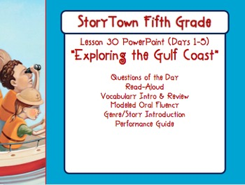 "Storytown Grade 5 Lesson 30 ""Exploring the Gulf Coast"" Weekly PowerPoint"