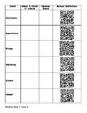 Storytown Grade 5 - QR Code Vocabulary Worksheet- Lesson 1
