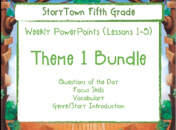 Storytown Grade 5 Theme 1  Weekly PowerPoints