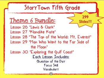 Storytown Grade 5 Theme 6 Weekly PowerPoints