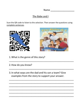 Storytown Instant QR Code Listening Center, Babe and I