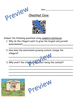 Storytown Instant QR Code Listening Center, Lesson 23: Chestnut Cove