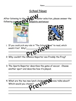 Storytown Instant QR Code Listening Center, Lesson 5: School News
