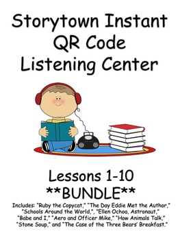 Storytown Instant QR Code Listening Center, Lessons 1-10 *