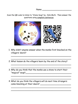 Storytown Instant QR Code Listening Center, Stone Soup