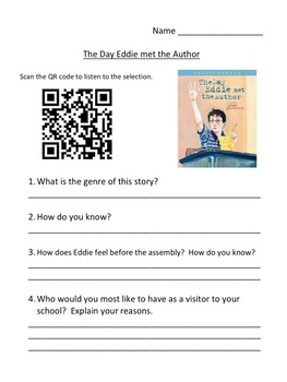 Storytown Instant QR Code Listening Center, The Day Eddie Met the Author