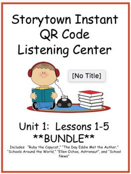 Storytown Instant QR Code Listening Center, Unit 1 **BUNDLE**