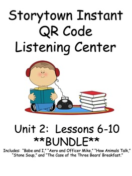 Storytown Instant QR Code Listening Center, Unit 2 **BUNDLE**