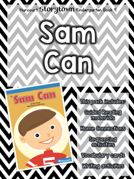 Guided Reading Pack: Storytown Kindergarten Book 9 Sam Can