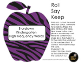 Storytown Kindergarten High Frequency Words Roll, Say, Keep