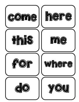 Storytown Kindergarten Sight Word Cards