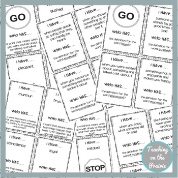 Storytown Lesson 1 Vocabulary Game [3rd Grade]