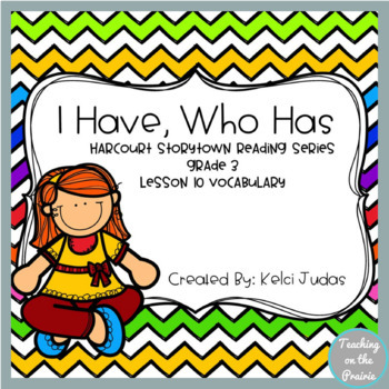 Storytown Lesson 10 Vocabulary Game [3rd Grade]
