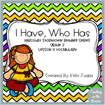 Storytown Lesson 11 Vocabulary Game [3rd Grade]
