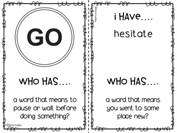 Storytown Lesson 2 Vocabulary Game