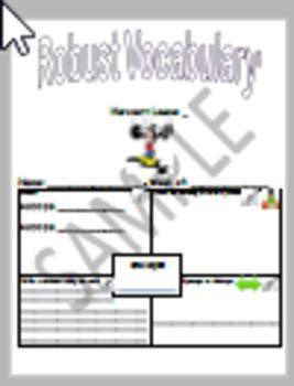 Storytown Lesson 3 Robust Vocabulary Graphic Organizer - No Prep
