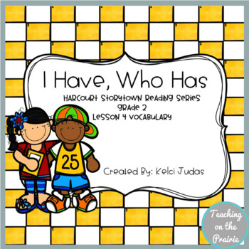 Storytown Lesson 4 Vocabulary Game [2nd Grade]