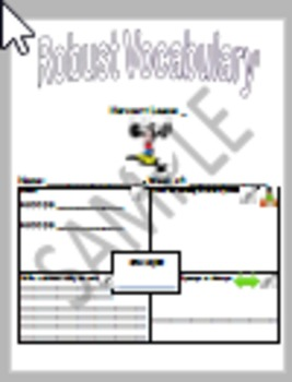 Storytown Lesson 5 Robust Vocabulary Graphic Organizer - No Prep