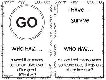Storytown Lesson 5 Vocabulary Game [3rd Grade]