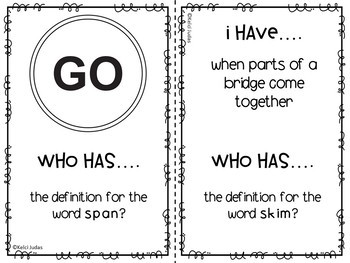 Storytown Lesson 6 Vocabulary Game [3rd Grade]