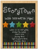 Storytown Lesson Information Pages - 1st Grade