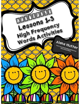 Storytown Lessons 1-3 High Frequency Words Activities