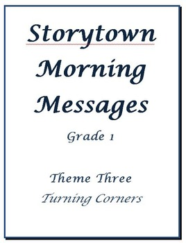 Storytown Morning Messages, Grade 1, Theme 3