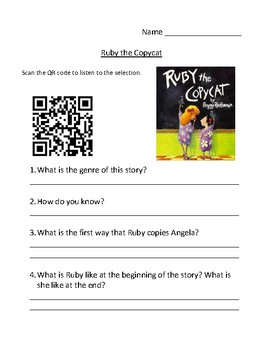 Storytown Instant QR Code Listening Center, Ruby the Copycat
