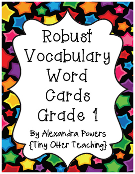 Storytown Robust Vocabulary Grade 1 (Lessons 1-30) Word Wall Cards