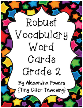 Storytown Robust Vocabulary Grade 2 (Lessons 1-30) Word Wall Cards