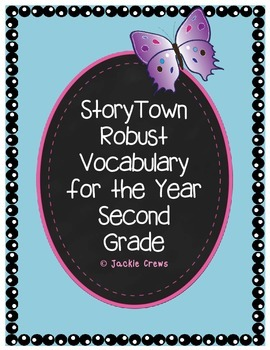 Robust Vocabulary Cards for the  Year Second Grade