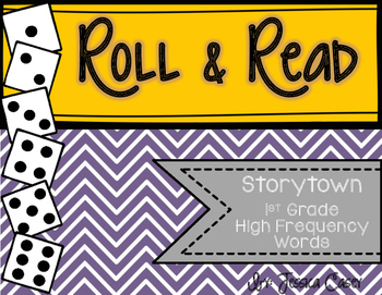 Storytown Roll & Read High Frequency Word Activity- Grade 1