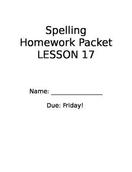 Storytown Spelling Lesson 17 Grade 2