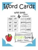 Storytown Spelling Word Cards