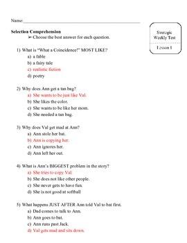 Storytown Strategic Intervention Kit Assessment Theme 1