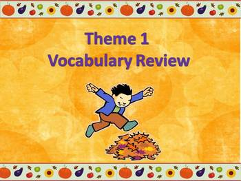 Storytown Theme 1 Power point Vocabulary Review-  Third Grade