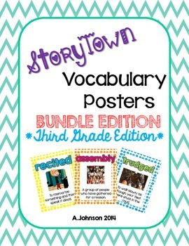 Storytown Vocabulary Posters BUNDLE PACK {3RD GRADE EDITION}