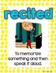 Storytown Vocabulary Posters Theme 1 {3RD GRADE}