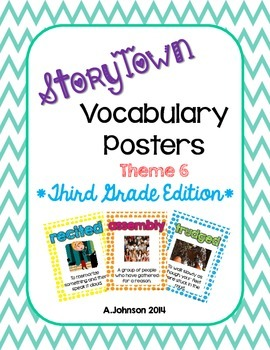 Storytown Vocabulary Posters Theme 6 {3RD GRADE}