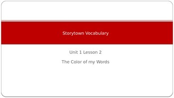 Storytown Vocabulary Unit 1 Lesson 2 Grade 6 Powerwpoint