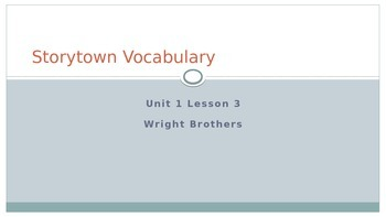 Storytown Vocabulary Unit 1 Lesson 3 Grade 6 Powerpoint