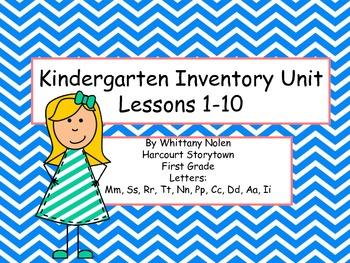 Storytown's Kindergarten Inventory: Lessons 1-10