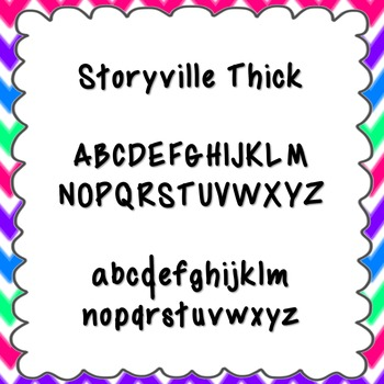 Storyville Thick Font {personal and commercial use; no license needed}