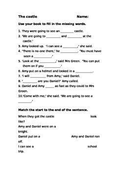 Storyworld Reading Comprehension Worksheets Stage 6