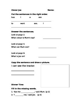 Storyworld Stage 2 Reading Comprehension Sheets