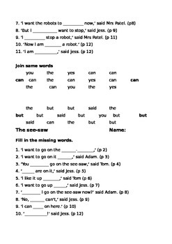 Storyworld Stage 3 Reading Comprehension Sheets