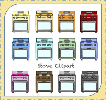 Stove Clipart / Kitchen Clipart / Oven Clipart / Cooking Clipart